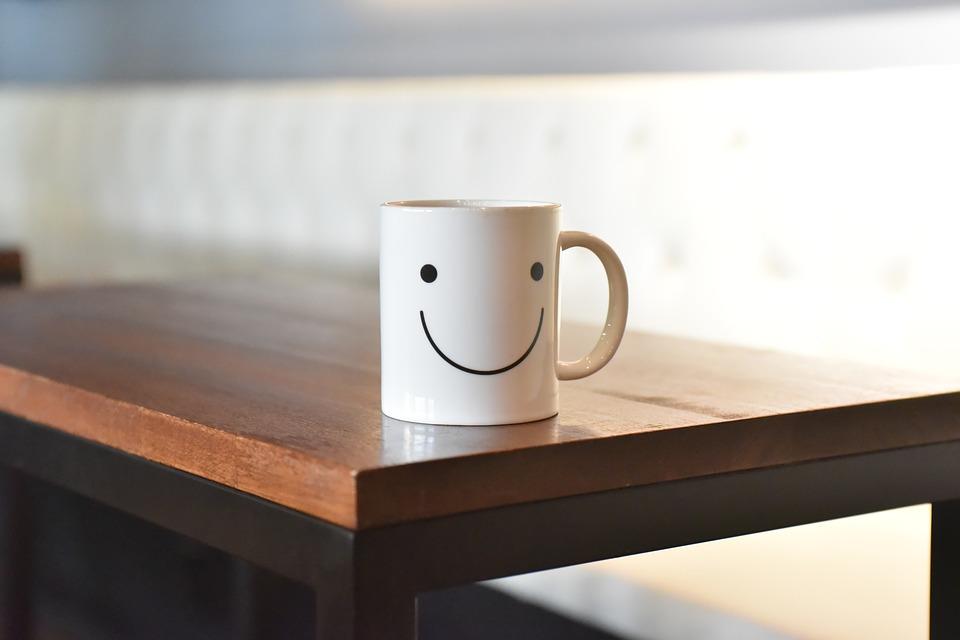 Beker met smile :)